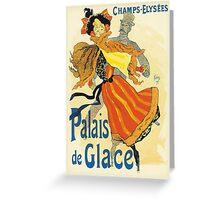 Cheret - Palais de Clace Greeting Card