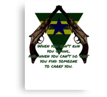 Browncoat Creed Canvas Print