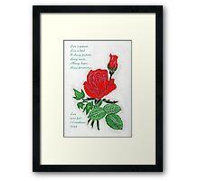The Love Rose Framed Print