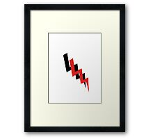 Black and red lightning bolt Framed Print