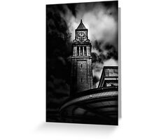 Clock Tower No 10 Scrivener Square Toronto Canada Greeting Card