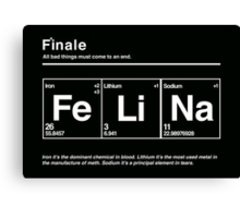 FeLiNa (Breaking Bad) Canvas Print