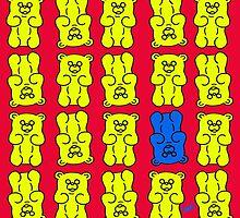 Gummy Bears Yellow and Blue by Xavierboldu