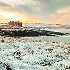 Newquay Headland Snow by ilikepetedotcom