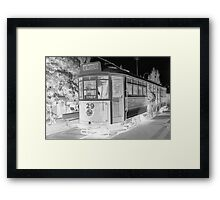 All Aboard the Ghost Tram Framed Print