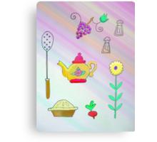 Teapot and pie Metal Print