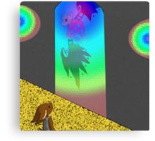 RR A Glance Though Rainbow Glass Canvas Print