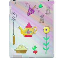 Teapot and pie iPad Case/Skin