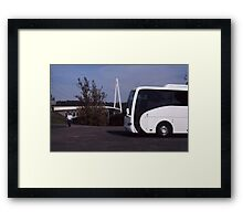 Batman Bridge and Bus Framed Print