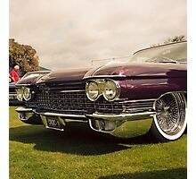1960 Caddy at Car Show Photographic Print