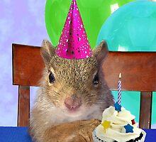Birthday Squirrel by jkartlife