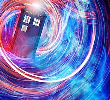 The Tenth Doctor's TARDIS by chameleonarch