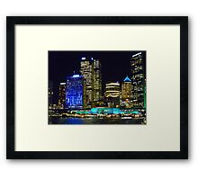 Colouring the Quay Framed Print