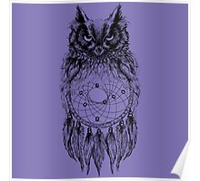 Dreamy Owl_Black Poster