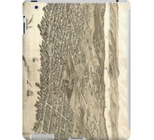 Vintage Pictorial Map of Halifax (1879) iPad Case/Skin