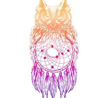 Dreamy Owl_Multi Pink by kellabell9