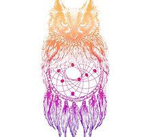 Dreamy Owl_Multi Pink by kellabell9