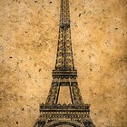 Vintage Eiffel Tower 2 by AndrewFare