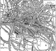 Vintage Map of Hamburg Germany (1911) by BravuraMedia