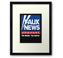 Faux News Channel Framed Print