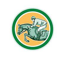 Equestrian Show Jumping Side Circle Retro by patrimonio