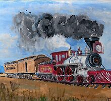 An American Steam Train by GEORGE SANDERSON