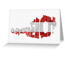 Austria Typographic Map Flag Greeting Card