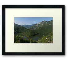 Green, Green and Green - the Water, the Mountains, the Trees Framed Print
