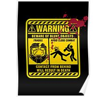 Mjolnir Warning Label Poster