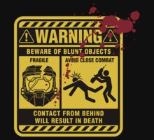 Mjolnir Warning Label T-Shirt