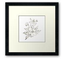 Bunch of spring anemones Framed Print