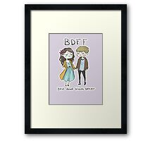 Best Dead Friends Forever Framed Print