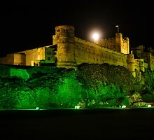 Bamburgh Castle By Night. by Dave Staton
