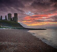 Reculver Towers by Sue Martin