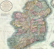 Vintage Map of Ireland (1799)  by BravuraMedia