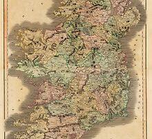 Vintage Map of Ireland (1831) by BravuraMedia