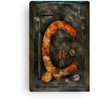 Steampunk - Alphabet - C is for Chain Canvas Print
