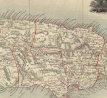 Vintage Map of Jamaica (1851) Sticker