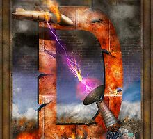 Steampunk - Alphabet - D is for Death Ray by Mike  Savad