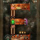 Steampunk - Alphabet - E is for Electricty by Mike  Savad