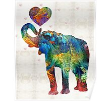 Colorful Elephant Art - Elovephant - By Sharon Cummings Poster