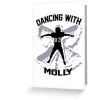 Wes Welker - Dancing With Molly - Denver Broncos Greeting Card