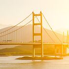Tsing Ma Bridge sunset in Hong Kong by kawing921