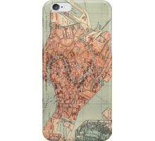 Vintage Map of Venice Italy (1920) iPhone Case/Skin