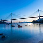 Ting Kau Bridge in Hong Kong by kawing921