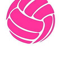 Volleyball - Pink by cpotter