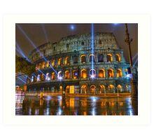 Coliseum at Night Art Print