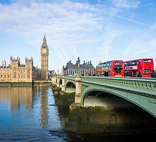 Westminster Bridge and Big Ben by Sue Martin