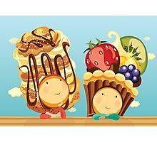Cream Puffelia & Fruit Tartelia Photographic Print
