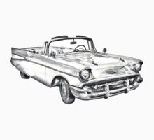 1957 Chevrolet Bel Air Convertible Illustration Kids Clothes